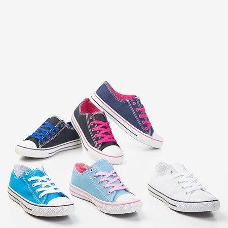 Черные кроссовки с синими шнурками Fips - Обувь