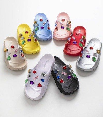 Черные сандалии с камнями Tamarice - Обувь