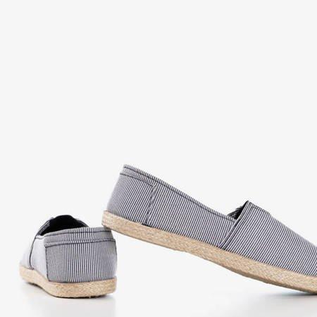 Эспадрильи из ткани в черно-белую полоску Timsaio - Обувь