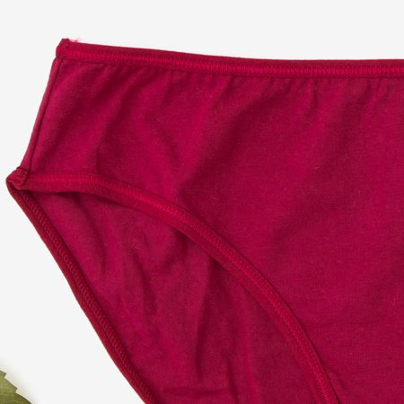 Бордовые женские трусы из хлопка PLUS SIZE - Нижнее белье