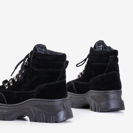 Черные утепленные женские сапоги от Mituran - Обувь