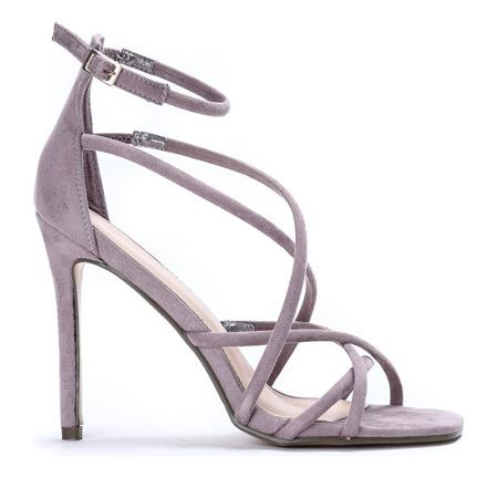 Fioletowe sandały na szpilce Teresena - Obuwie