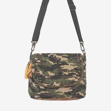 Mała torebka na ramię w kolorze białym z ozdobami - Torebki