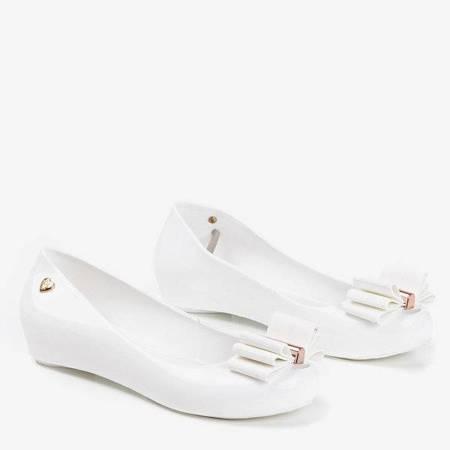 OUTLET Белые мелиски, украшенные бантом Tyrika - Туфли