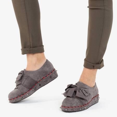 OUTLET Серые полуботинки с украшениями Пхукет - Обувь
