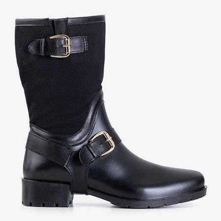 OUTLET Черные женские сапоги a'la galoshes Graca - Обувь