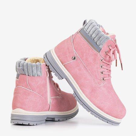Розовые женские утепленные сапоги Magiten - Обувь