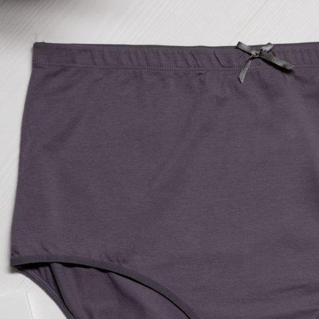 Трусики женские хлопковые темно-серые ПЛЮС РАЗМЕР - Нижнее белье