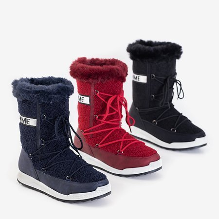 Утепленные женские сапоги бордового цвета Columbita - Обувь