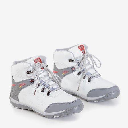 Женские белые сапоги Flakes со снежинками - Обувь