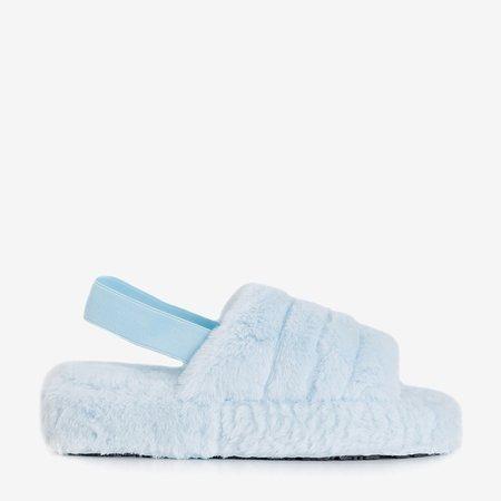 Женские меховые тапочки Fornax blue - обувь