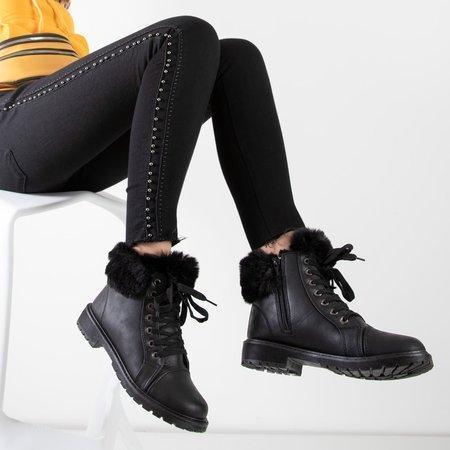 Зоневка женские сапоги на меху черные - Обувь