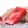 Большой красный лакированный женский кошелек - Кошелек