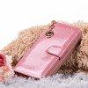Большой розовый лакированный женский кошелек - Кошелек