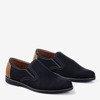 Черные мужские туфли с ажуром Lonberg - Туфли