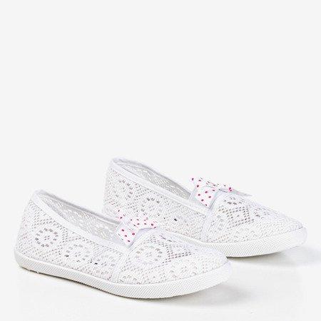 Балетки з білого мережива Семюеля - Взуття