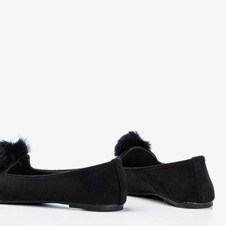Балетки чорні з помпоном Культи - Взуття