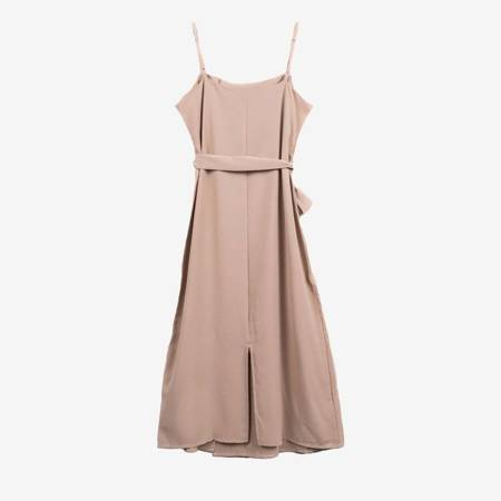 Бежеве плаття з гудзиками - Одяг 1