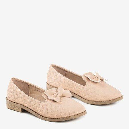 Бежеві мокасини з бантом Flavisa - Взуття 1