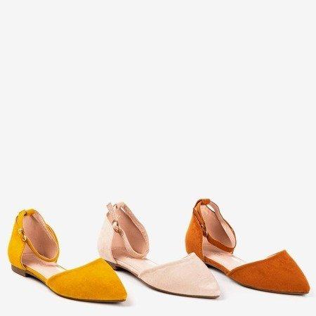 Бежеві туфлі-балетки з гострим носком Mosla - Взуття 1
