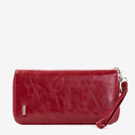 Бордовий жіночий гаманець на подвійній блискавці - Гаманець