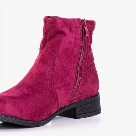 Бордово-рожеві черевики на низькому каблуці Gemina - Взуття