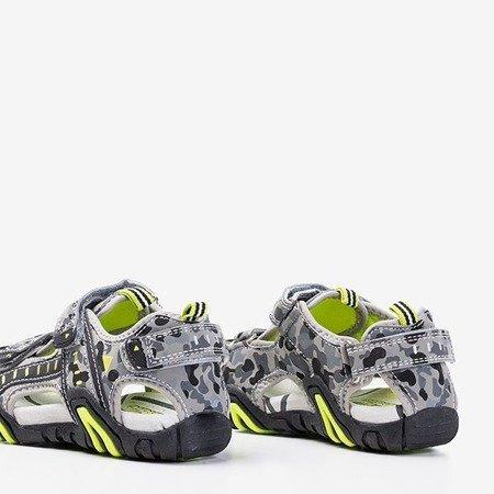 Босоніжки з сірими камуфляжами Berti - Взуття