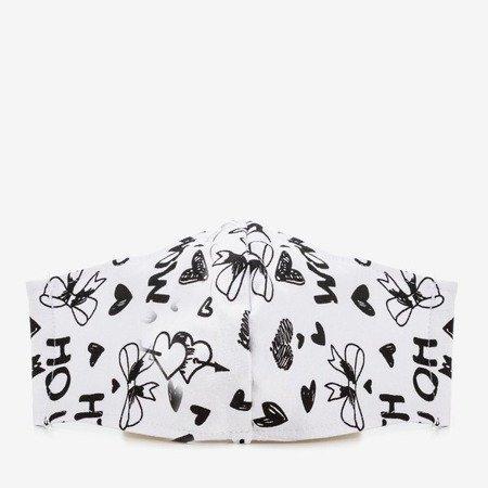 Біла двошарова маска для обличчя - Маски для обличчя 1
