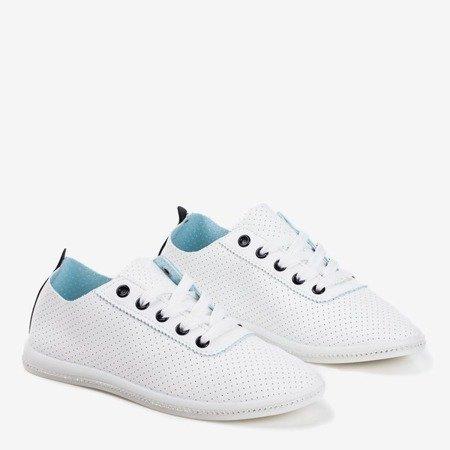 Білі ажурні кросівки з чорною вставкою Jasenia - Взуття 1