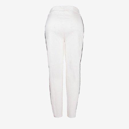 Білі жіночі кофти з смужками - Штани 1