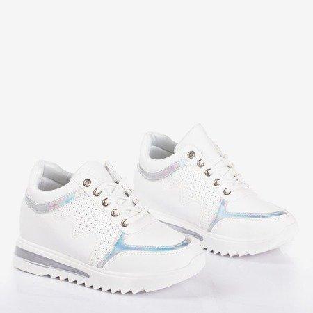Білі жіночі кросівки на закритому клині Wink Wink - Взуття 1