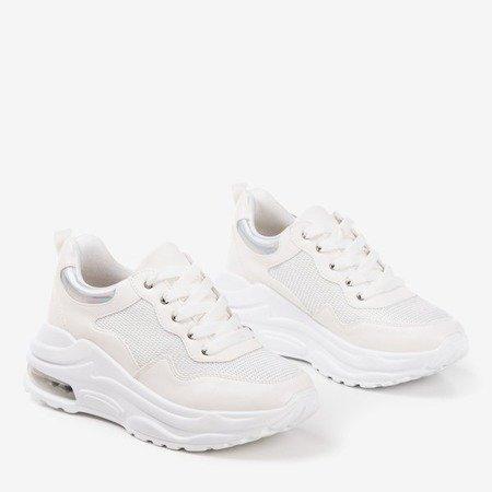 Білі жіночі спортивні кросівки з голографічними вставками з пігулок - Взуття 1