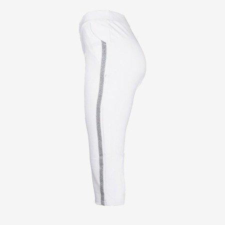 Білі короткі гетри з смужками - Штани 1