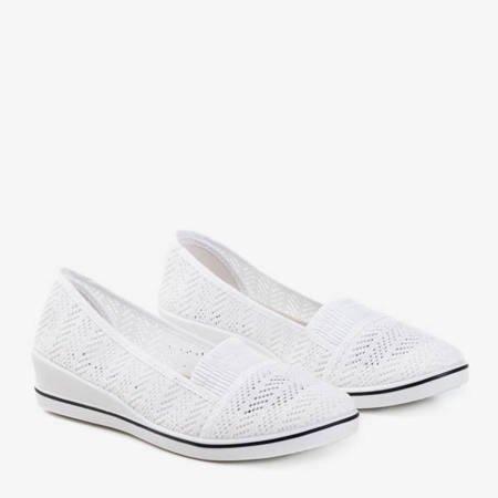Білі кросівки на низькому клині Фасетка - Взуття