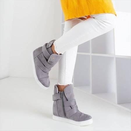 ВИХІД Світло-сірі кросівки на закритому танкетці Брісбен - Взуття