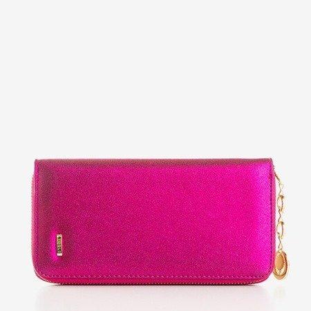 Великий глянсовий жіночий гаманець у рожевому кольорі - Гаманець