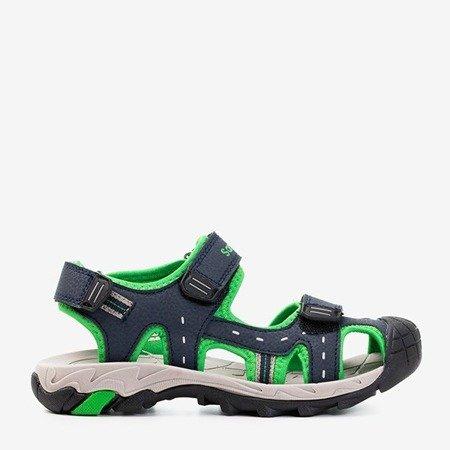 Дитячі спортивні босоніжки з зеленими вставками Krifia - Взуття