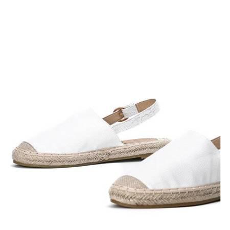 Еспадрільї з білої шкіри - еко з відкритим каблуком Дейзі - Взуття
