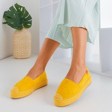 Жовті жіночі еспадрили на платформі Kali - Взуття 1