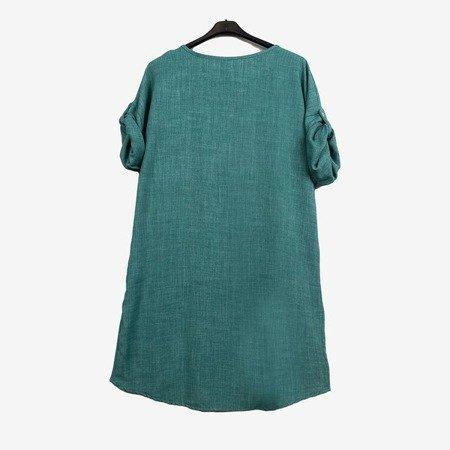 Жіноча зелена туніка з написом - Блузки 1