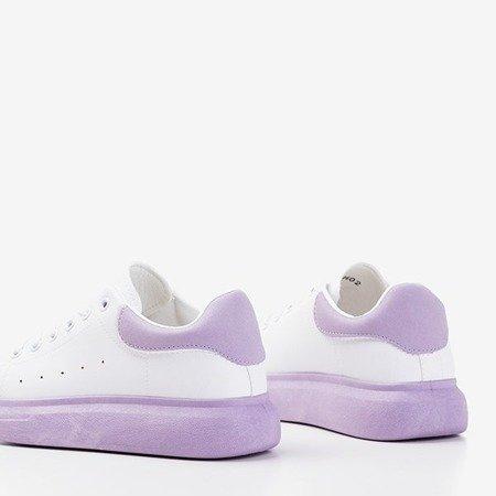Жіноче біле спортивне взуття з фіолетовими вставками Gulio - Взуття