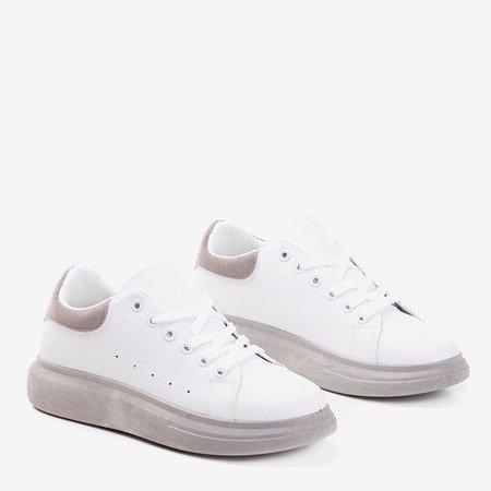 Жіноче біле спортивне взуття із сірими вставками Gulio - Взуття