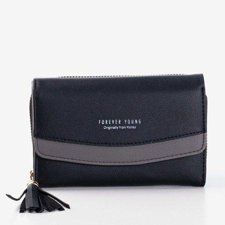Жіночий маленький чорний гаманець - Гаманець