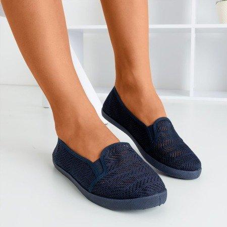 Жіночий темно-синій ажурний сліп на Гессані - Взуття