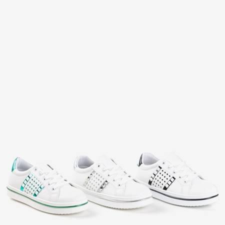 Жіночі білі кросівки зі срібною обробкою Celovi - Взуття