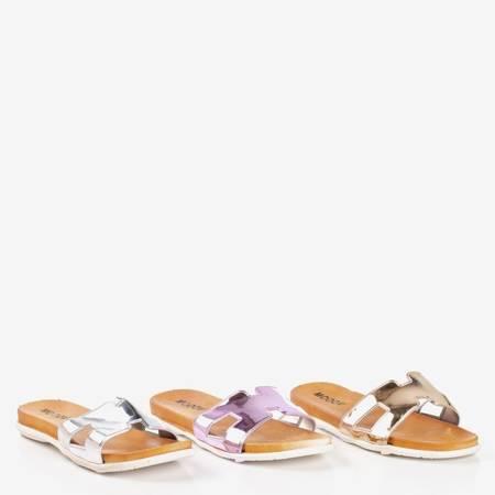 Жіночі тапочки зі срібла Hemoq - Взуття