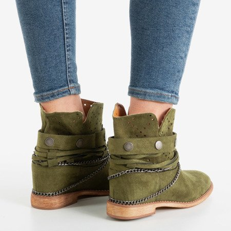 Зелені ковбойські черевики на закритому клині Salemi - Взуття 1