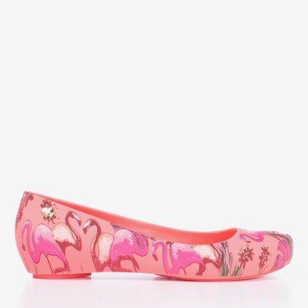Коралово-червона меліса з принтом фламінго Copteria - Взуття