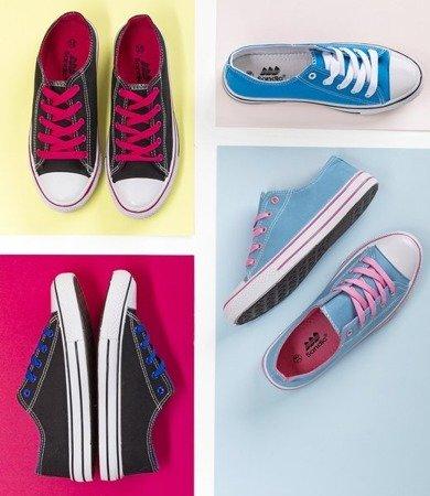 Кросівки темно-сині з рожевими шнурками Fips - Взуття