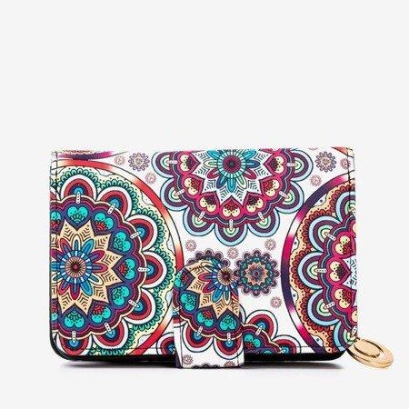 Маленький жіночий гаманець з малюнком у блакитному кольорі - Гаманець
